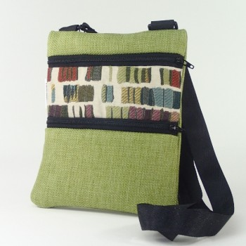 Mini shoulder bag lime square