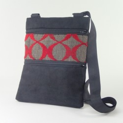 Mini Shoulder Bag Red Circles