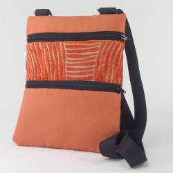 Mini shoulder bag orange swirl