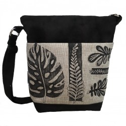Day bag printed leaves