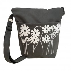 Day Bag Grey Daisies