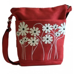 Day Bag Red Daisy