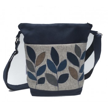 Day Bag Blue Leaves