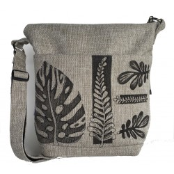 Day Bag Linen leaves