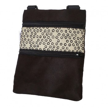 Mini Shoulder Bag Black/White Circles