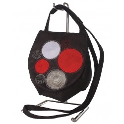Shoulder Bag Red Circles