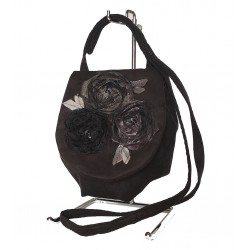 Shoulder Bag Black Rose