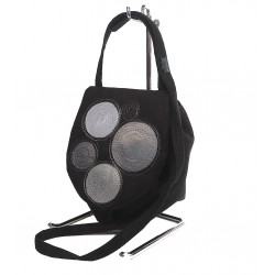 Shoulder Bag Silver Circles