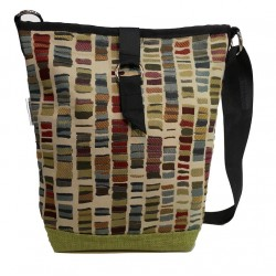 Tote Bag Lime Blocks
