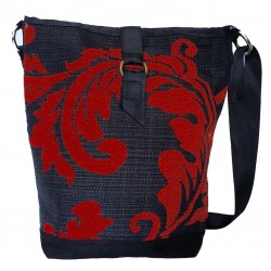 Tote Bag Red/Black Floral