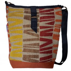 Tote Bag Rust Blocks