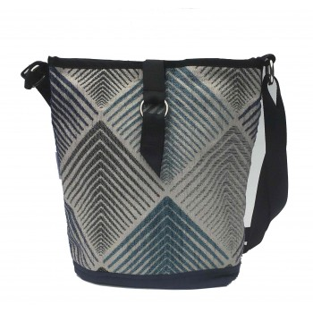 Tote Bag  Blue Chevron